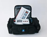 Physiolaser in a carrying bag, mobile laser therapy